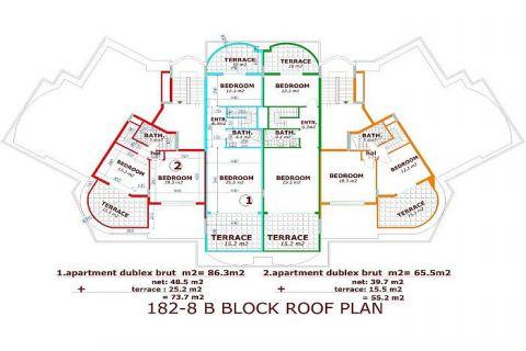 Utopia III - Orange Garden apartmány v Alanyi - Plány nehnuteľností - 39