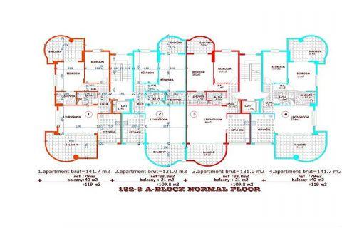 Utopia III - Orange Garden apartmány v Alanyi - Plány nehnuteľností - 32