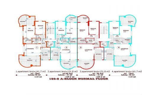 Moderne komplexe II Orange Garden,Alanya,Cikcilli - Immobilienplaene - 32