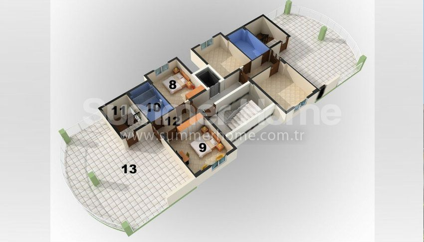 阿拉尼亚/阿夫萨拉尔热门度假区的一居室公寓 plan - 2