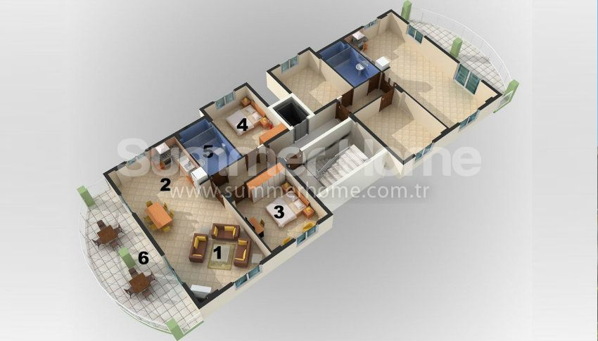 阿拉尼亚/阿夫萨拉尔热门度假区的一居室公寓 plan - 3