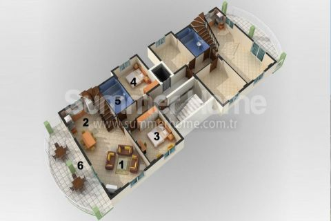 Cozy 1-Bedroom Apartments in Alanya - Property Plans - 15