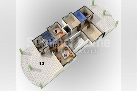 Cozy 1-Bedroom Apartments in Alanya - Property Plans - 16