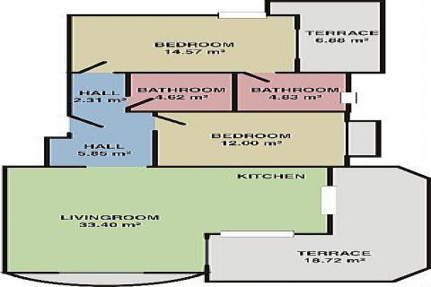 Albayrak Residences Wohnungen,Alanya,Oba - Foto's Innenbereich - 17