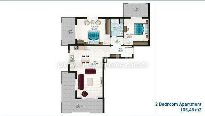阿拉尼亚马赫穆特拉尔的廉价公寓 plan - 5