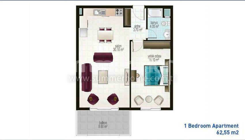 阿拉尼亚马赫穆特拉尔的廉价公寓 plan - 6