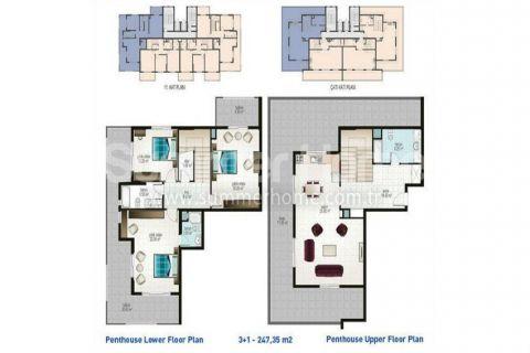 Apartmány s nízkymi cenami v Alanyi - Plány nehnuteľností - 16
