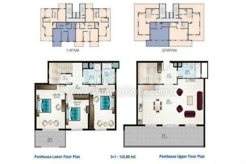 Apartmány s nízkymi cenami v Alanyi - Plány nehnuteľností - 17