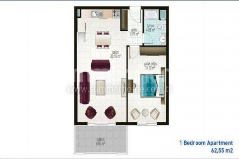 Apartmány s nízkymi cenami v Alanyi - Plány nehnuteľností - 21