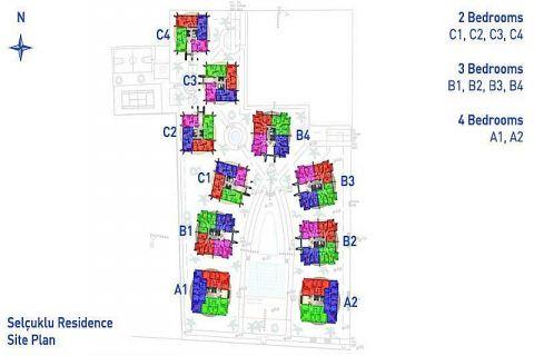 Vkusné apartmány v Alanyi - Plány nehnuteľností - 40