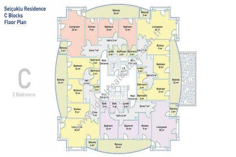 Selçuklu Residence Apartments direkt am Strand - Immobilienplaene - 42