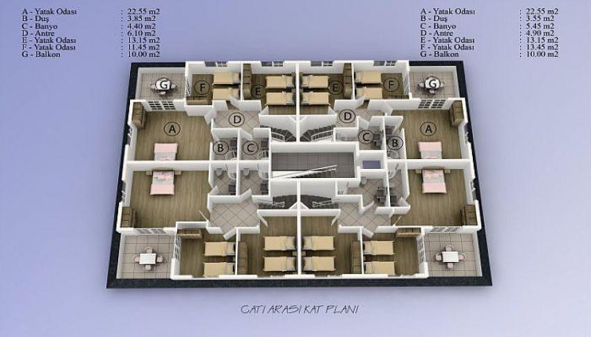 阿拉尼亚中心的美丽公寓,位置完美 plan - 1
