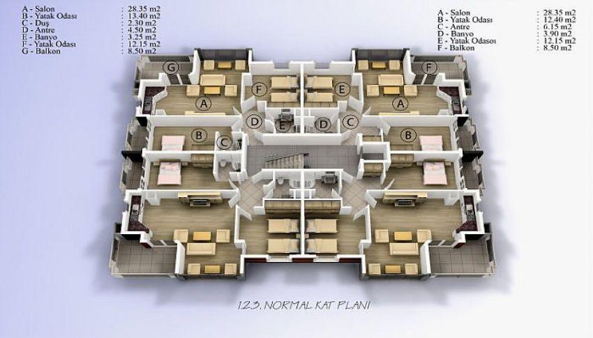 阿拉尼亚中心的美丽公寓,位置完美 plan - 2