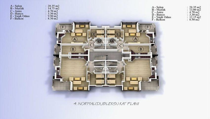 阿拉尼亚中心的美丽公寓,位置完美 plan - 3