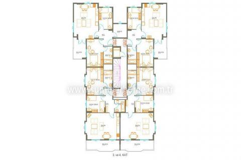 Трехкомнатная квартира в Авсалларе - Планировка  - 9