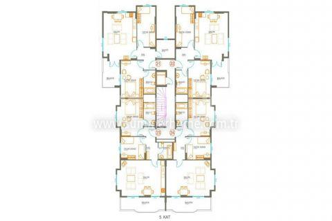Трехкомнатная квартира в Авсалларе - Планировка  - 10