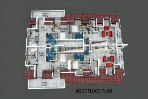 Трехкомнатная квартира в Авсалларе - Планировка  - 11