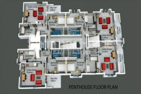 Трехкомнатная квартира в Авсалларе - Планировка  - 12