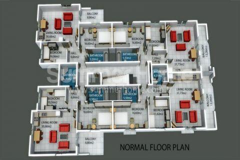 Moderne Residence in Avsallar - Immobilienplaene - 13
