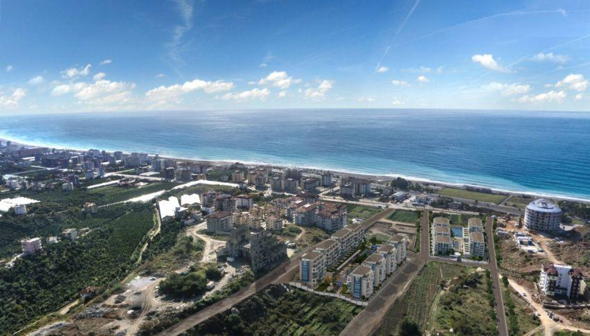 阿拉尼亚凯斯泰尔现代独立住宅区的海景公寓 construction - 1