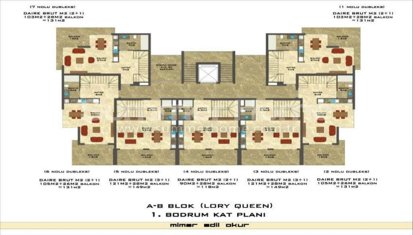 阿拉尼亚凯斯泰尔现代独立住宅区的海景公寓 plan - 1