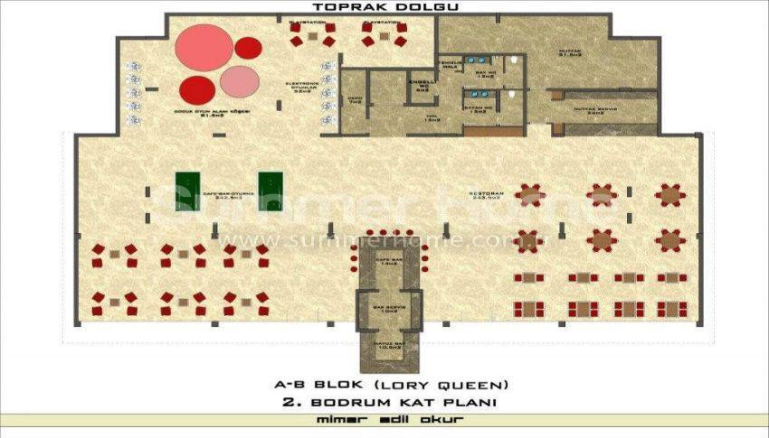 阿拉尼亚凯斯泰尔现代独立住宅区的海景公寓 plan - 3