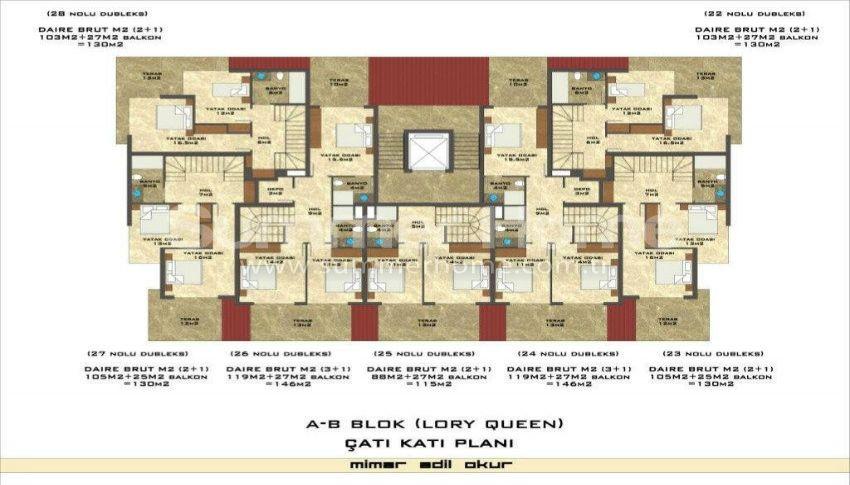 阿拉尼亚凯斯泰尔现代独立住宅区的海景公寓 plan - 4