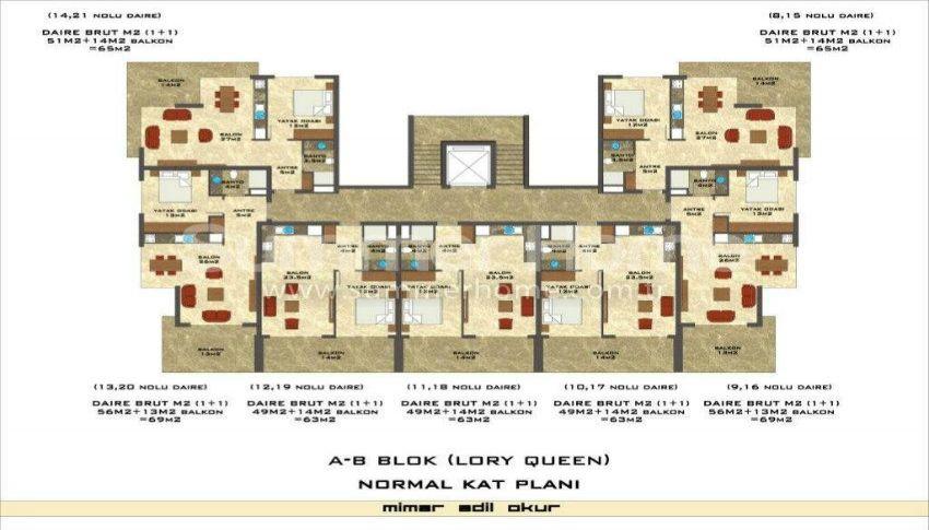 阿拉尼亚凯斯泰尔现代独立住宅区的海景公寓 plan - 6
