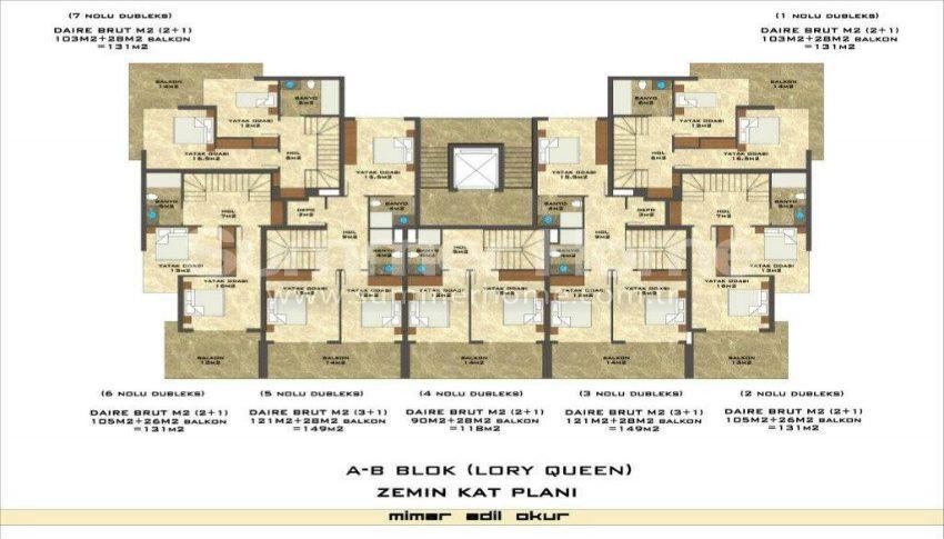 阿拉尼亚凯斯泰尔现代独立住宅区的海景公寓 plan - 7