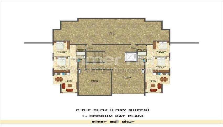 阿拉尼亚凯斯泰尔现代独立住宅区的海景公寓 plan - 8