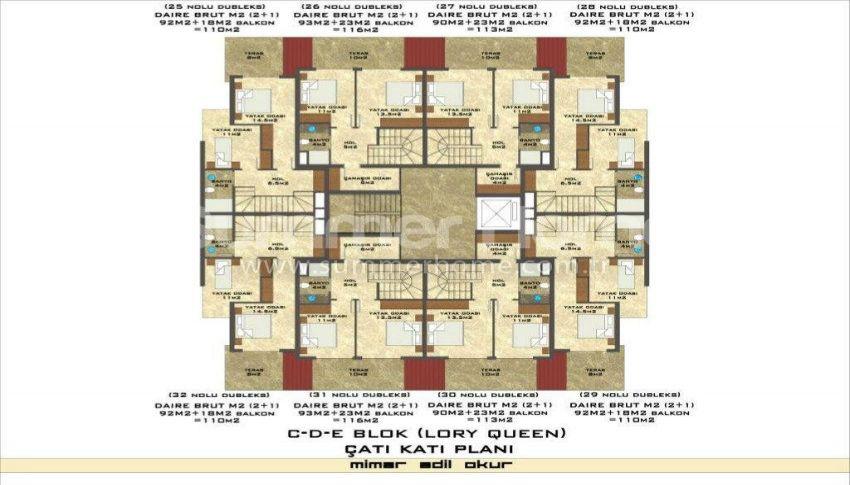 阿拉尼亚凯斯泰尔现代独立住宅区的海景公寓 plan - 9