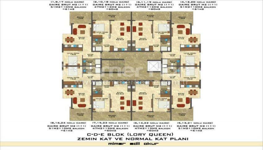 阿拉尼亚凯斯泰尔现代独立住宅区的海景公寓 plan - 11