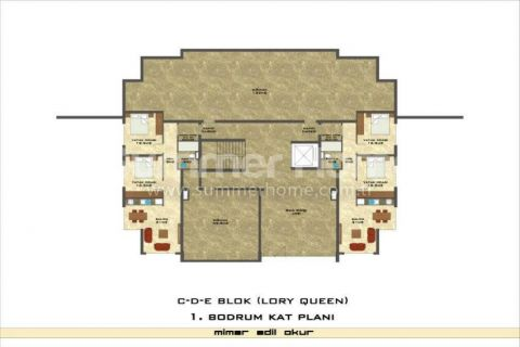 1-Bedroom Sea View Apartment in Lory Queen in Alanya - Property Plans - 56