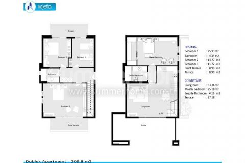 Luxury Apartments for Sale in Side - Property Plans - 35
