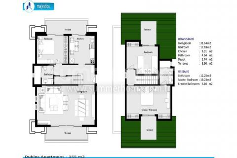 Luxury Apartments for Sale in Side - Property Plans - 36
