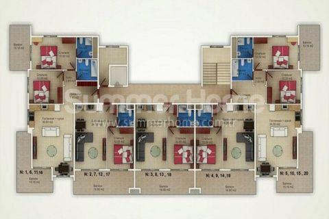 Cenovo dostupné byty na predaj v Alanyi - Plány nehnuteľností - 15