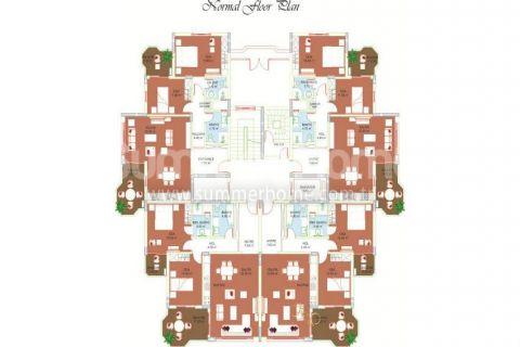 Svetlé apartmány na predaj v Alanyi - Plány nehnuteľností - 11