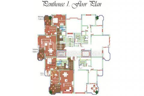 Svetlé apartmány na predaj v Alanyi - Plány nehnuteľností - 12