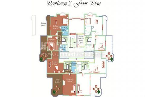 Bright Apartments for Sale in Alanya - Property Plans - 13