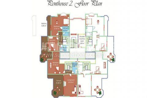 Svetlé apartmány na predaj v Alanyi - Plány nehnuteľností - 13