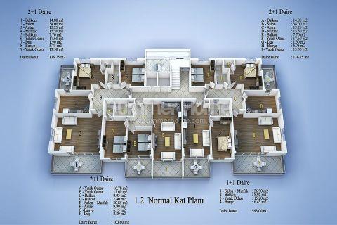 Современные апартаменты в Алании - Планировка  - 10