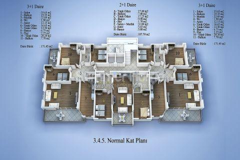 Современные апартаменты в Алании - Планировка  - 11