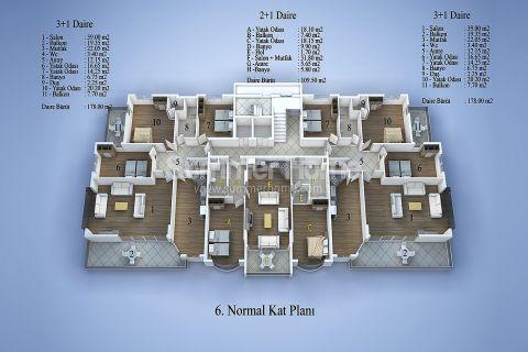 Top Wohnanlage in Zentrum Alanya - Immobilienplaene - 12