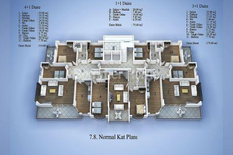Современные апартаменты в Алании - Планировка  - 13