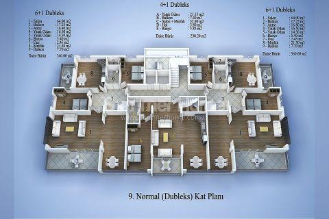 Top Wohnanlage in Zentrum Alanya - Immobilienplaene - 14
