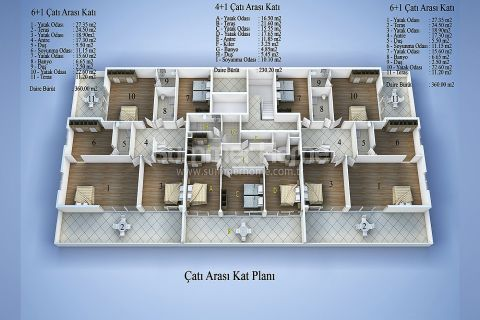 Современные апартаменты в Алании - Планировка  - 15