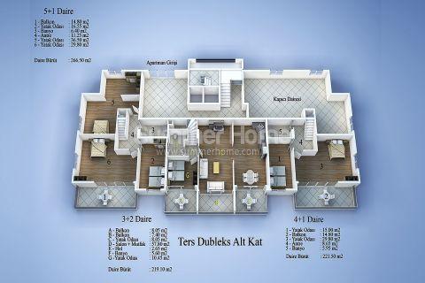 Современные апартаменты в Алании - Планировка  - 16