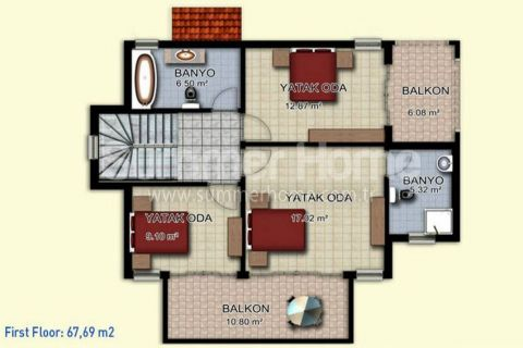 Magnificent Begonville Villas in Alanya - Property Plans - 12