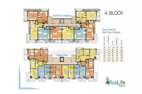 Pleasant Apartments and Penthouses in Alanya - Property Plans - 13