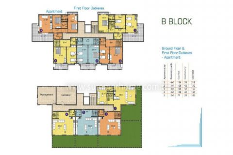 Pleasant Apartments and Penthouses in Alanya - Property Plans - 16